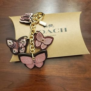 Coach Butterfly Cluster keychain/Hangtag